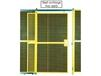 HIGH SECURITY WIRE PARTITION SYSTEM: FULL HEIGHT SINGLE SLIDE DOORS